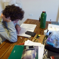 Duilio studying with mate :)