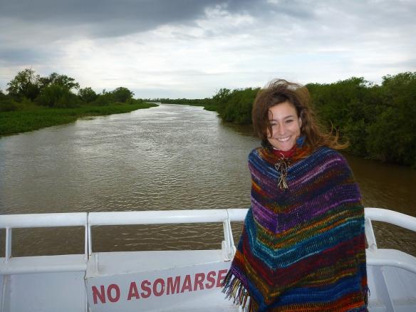 At the catamaran, a boat through the rivers in Santa Fe