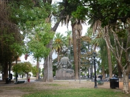 The main plaza, Parque 9 de julio