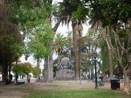 The main plaza, Parque 9 de julio