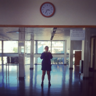 So the gymnastic class is supposed to start at 30, but no one is here.... argentinians are not that punctual!
