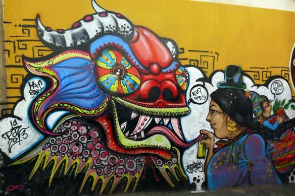 Wall in La Paz