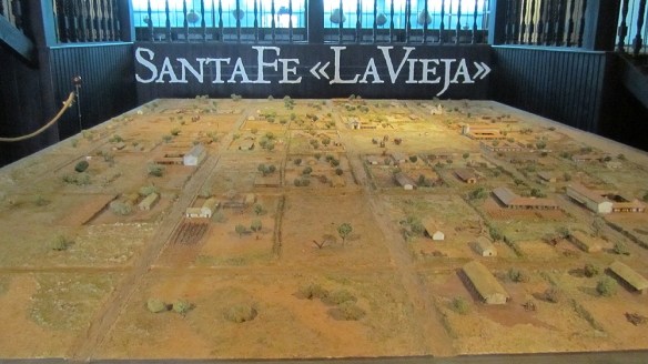 The old Santa Fe. In the mid 1600 they moved the city 80 kilometres north, where it is situated today. All the remains here were intact or destroyed by the flooded river.