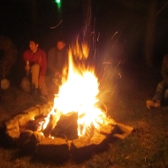 We had our own fireplace at the party... perfect this cold day!
