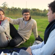 In Parque del sur, having mate with Rocio and Nico. :)