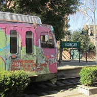 Like how they have painted this train, and the funny note in the front... haha