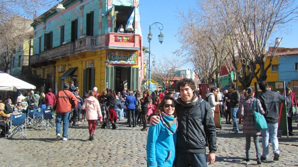 Me and Duilio in front of the famous Caminito in La Boca, Buenos aires