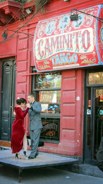 Tango show in the caminito