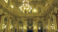 One of the salons in the Casa Rosada.... Like the lights!