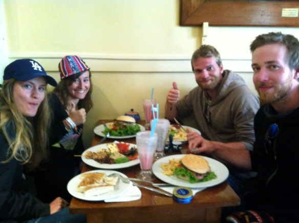 Having lunch with Ewa, Mats and Jacob in Cuzco (notice the snus on the table, so swedish!)
