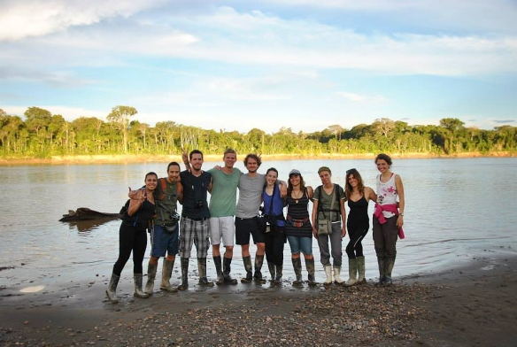 With the greatest group in front of the Amazonas river in Puerto Maldonado