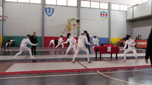 The semi-finals in womens epee