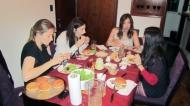 Having dinner at Giselas :)