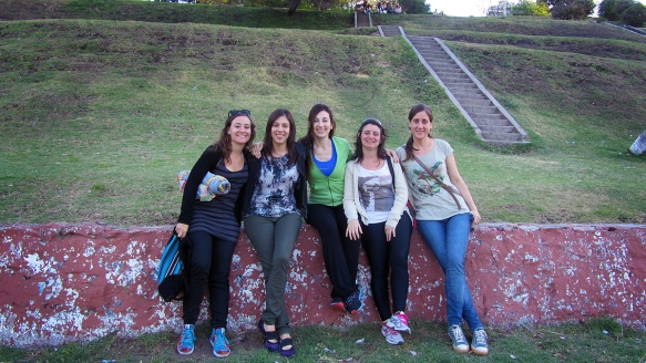 The parana girls - me and Gisela visiting Veronica, Marcela and Lorena