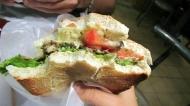 My veggie burger, really good actually!!!