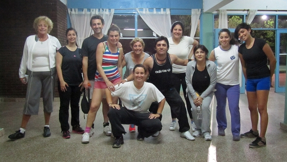 With the salsa group! Together with our teacher Dany