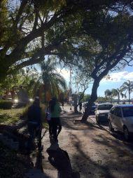 Walking along the costanera in Parana