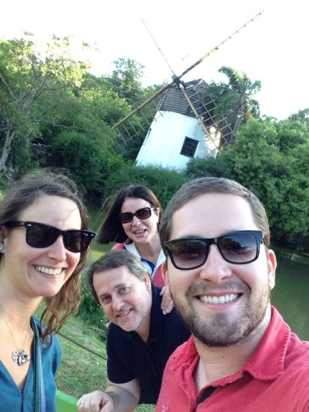 With Rafas parents in the Parque do vento do Molinhos, the mill park!