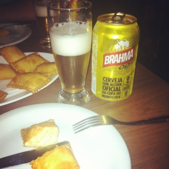Nice alkoholfree beer and nice cheese-pastels!