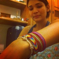 Iralice with the two bracelets I gave her :)