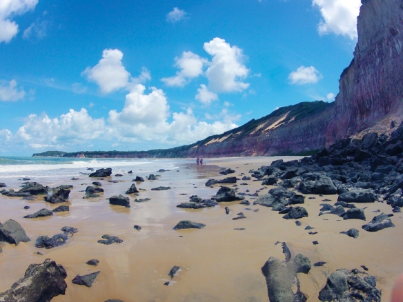 On my way between praia de golfinos and praia madeiro. When there's a low tide you can walk between the beaches. :)