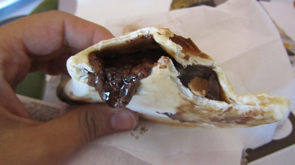 """una bomba"" as Duilio would say. Like empanadas but filled with chocolate. Wow!!! I have misses chocolate so much. Haha"