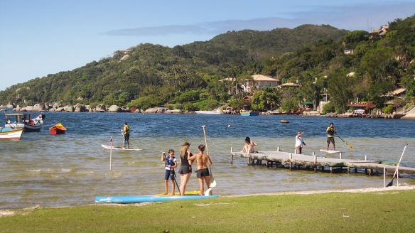 Stand up paddle in Lagoa :)