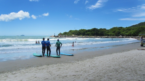 Surfing in Barra Da lagoa. Such a lovely beach!