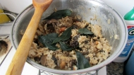 Nerys mushroom risotto with brazilian nuts, mmm!