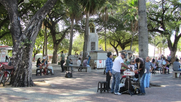 Jose Alancar park, good to catch the local street performers