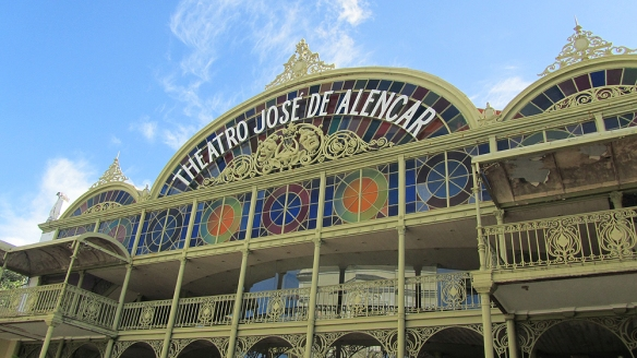 The famous theater in fortaleza