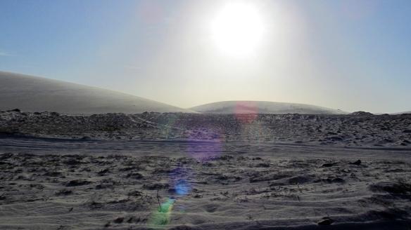 Crossing sand dunes