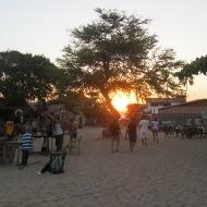 Main street in Jericoacoara.. streets made of sand...