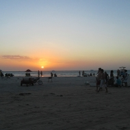 First sunset on the beach