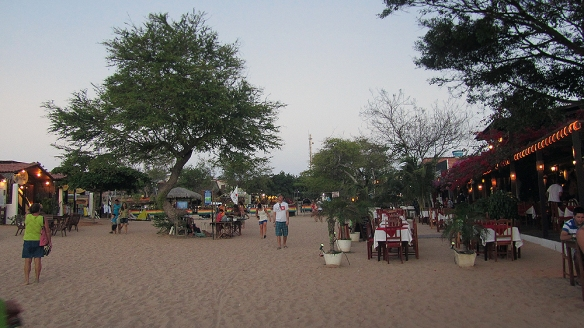 The main street in Jericoacoara