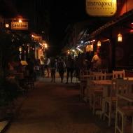 A little street filled with restaurants