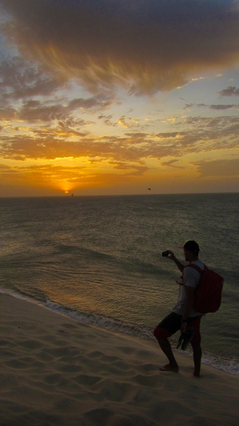 Sunset on the sand dune with Marcin