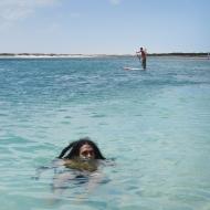 Erasmo swimming :) haha he looks so small!