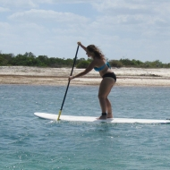 Doing stand up paddle!!