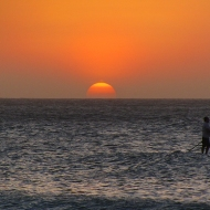 Sunset and stand up paddle :)