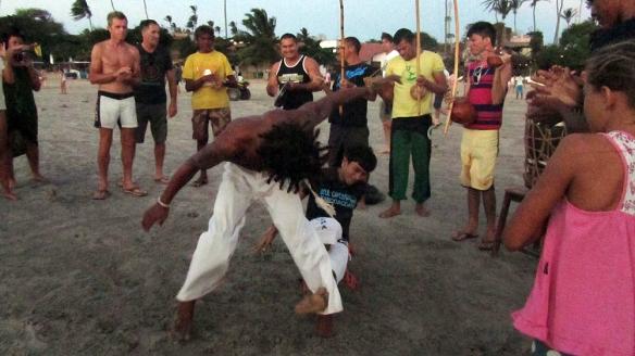 Capoeira on the beach!!
