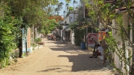 One of the streets in Jeri during the day