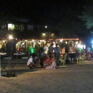 The mainstreet at night with all the handcraft workers