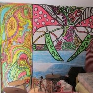 Psychadelic painted walls!