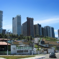 High buildings along the coast!