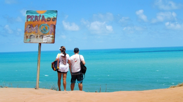 Visiting Praia do Amor, the beach of love!