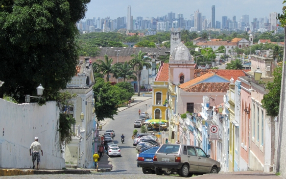 Colonial Olinda and further away, modern Recife