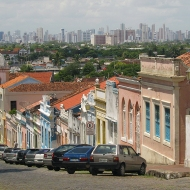 Olinda and Recife behind