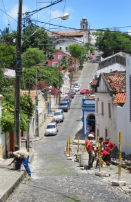 Restoring the street.