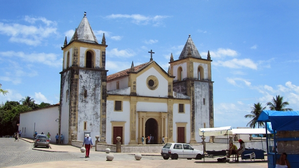 Igreja da Sé in Alto da Sé. This was the first church built in Brazil, built in 1540 and was briefly a Protestant church during the Dutch occupation in the 17th century.